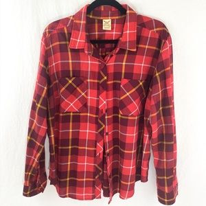 ❤️ 3/20 Faded Glory Plaid Button down